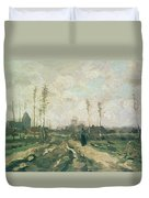 Landscape With A Church And Houses Duvet Cover