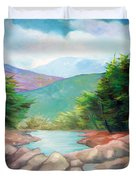 Landscape With A Creek Duvet Cover