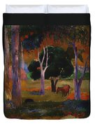 Landscape With A Pig And Horse Duvet Cover