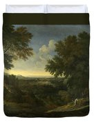 Landscape With Abraham And Isaac Duvet Cover