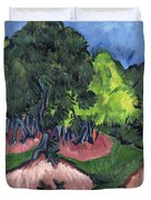 Landscape With Chestnut Tree Duvet Cover