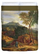 Landscape With Conopion Carrying Duvet Cover