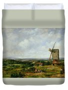 Landscape With Figures By A Windmill Duvet Cover