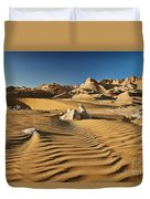 Landscape With Mountains In Egyptian Desert Duvet Cover