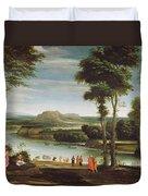 Landscape With St. John Baptising Duvet Cover