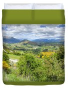 Landscape With Winding Road Duvet Cover