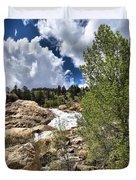 Alluvial Fan Colorado Duvet Cover