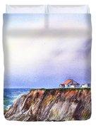 Lighthouse Point Arena California  Duvet Cover