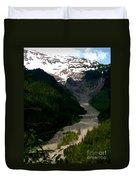 Landslides At Mount Rainier Duvet Cover