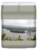 Lansing Bridge Panoramic Duvet Cover