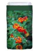 Lantana Delight Duvet Cover