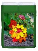 Lantana Flowers 2 Duvet Cover