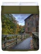 Lanterman's Mill In Fall Duvet Cover