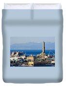 Lanterna - Lighthouse In Genova Duvet Cover