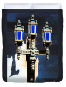 Lanterns Out Of The Blue Duvet Cover