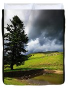 Lanty's Tarn On A Stormy Afternoon Duvet Cover
