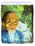 Lao Tzu Duvet Cover by Jane Small