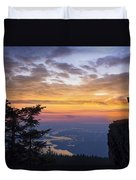 Larch Mountain Sunset Duvet Cover