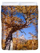 Larch Tree Frames Prusik Peak Duvet Cover