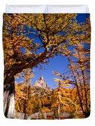 Larches Frame Prusik Peak Duvet Cover