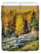 Larches In Autumn Duvet Cover
