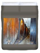 Large Barrels At Korbel Winery In Russian River Valley-ca Duvet Cover
