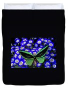 Large Green Butterfly Duvet Cover