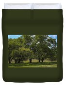 Large Green Oak Trees Duvet Cover