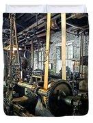 Large Lathe In Machine Shop Duvet Cover
