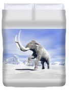 Large Mammoth Walking Slowly Duvet Cover by Elena Duvernay