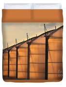 Large Scale Industrial Greenhouse Lit By Sunet Duvet Cover