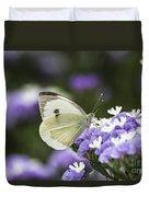 Large White Pieris Brassicae  Duvet Cover
