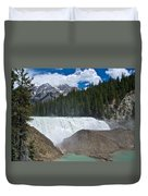 Larger View Of Wapta Falls In Yoho Np-bc Duvet Cover