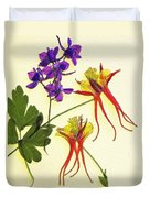 Larkspur And Columbine Duvet Cover