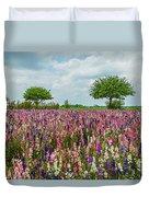 Larkspur Fields Forever Duvet Cover