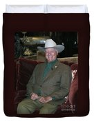 Larry Hagman Duvet Cover by Nina Prommer