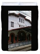 Las Planas Train Station Duvet Cover