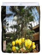 Las Vegas Attrium Architecture N Interior Decorations Casinos Resorts Hotels Flowers Sky Green Signa Duvet Cover