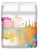 Las Vegas Nevada Skyline  Duvet Cover