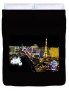 City - Las Vegas Nightlife Duvet Cover