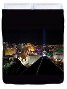 Las Vegas Night Pano Duvet Cover
