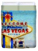 Las Vegas Sign Duvet Cover