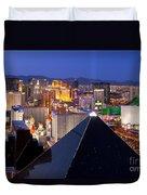 Las Vegas Skyline Duvet Cover by Brian Jannsen