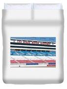 Las Vegas Speedway Grandstands Duvet Cover