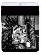 Las Vegas Sticker Sign Duvet Cover