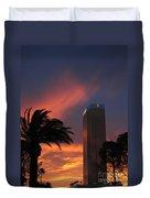 Las Vegas Sunset With Trump Tower Duvet Cover