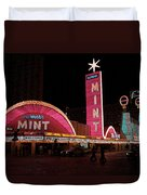 Las Vegas With Watercolor Effect Duvet Cover