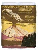 Lassen Travel Poster 1938 Duvet Cover