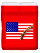 Lasso And American Flag Duvet Cover