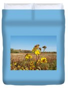 Last Blooms Before Fall Duvet Cover